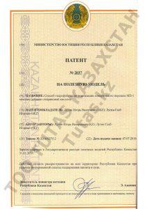 Тутас (Tutas) патент Способ гидрофобизации и активации минерального порошка МП-1